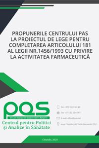 Propunerile Centrului PAS la proiectul de lege pentru completarea articolului 181 al Legii nr.1456/1993 cu privire la activitatea farmaceutică