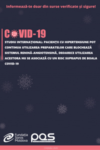 Studiu internațional: Pacienții cu hipertensiune pot continua utilizarea preparatelor care blochează sistemul renină-angiotensină, deoarece utilizarea acestora nu se asociază cu un risc suprapus de boala COVID-19