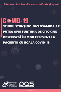 Studiu științific: Niclosamida ar putea opri furtuna de citokine observată în mod frecvent la pacienții cu boala COVID-19