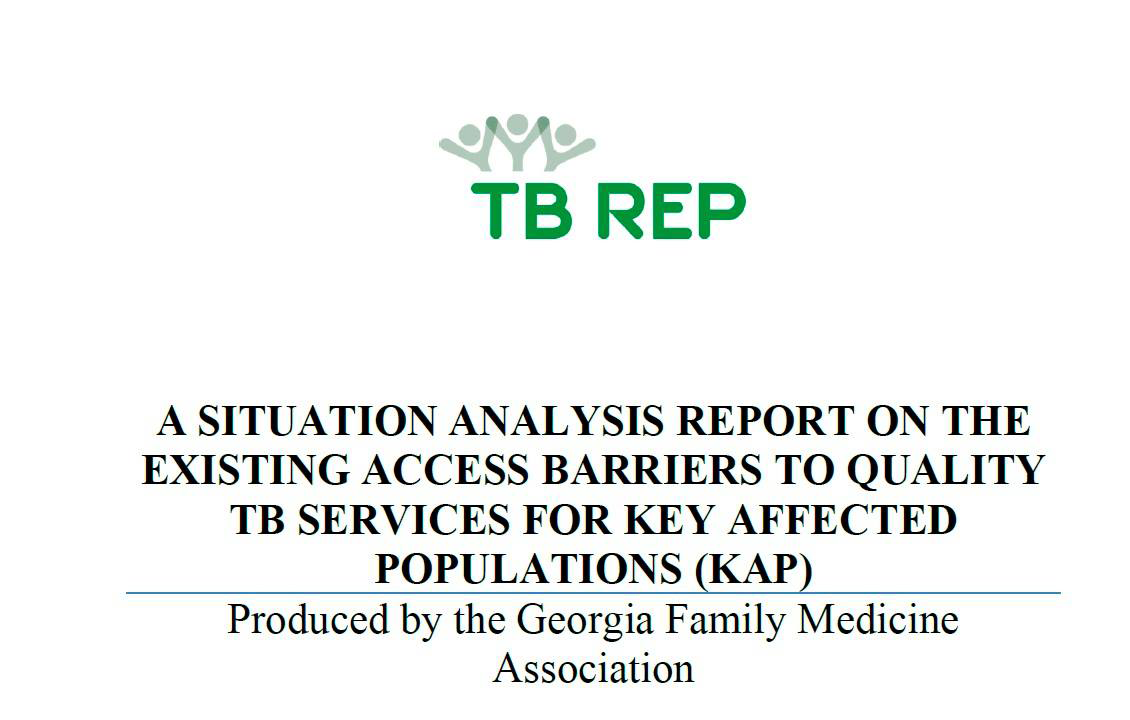 Georgia Family Medicine Association presents the situation analysis on key barriers to access to TB services to national stakeholders.