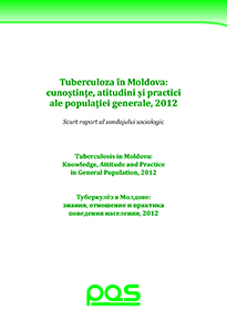 Туберкулёз в Молдове: знания, отношение и практика поведения населения, 2012
