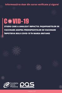 Studiu care a analizat impactul pașapoartelor de vaccinare asupra predispozițiilor de vaccinare împotriva bolii COVID-19 în Marea Britanie
